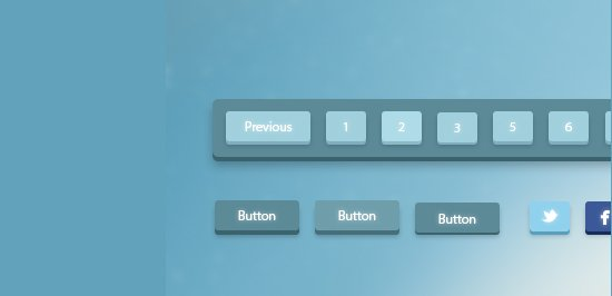 3D Pagination and Buttons